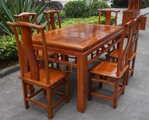 缅甸花梨大果紫檀明式长餐桌 中式红木餐桌独板 实木餐桌实用收藏