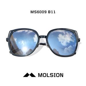 陌森太阳镜菱形多边形眼镜女2018偏光莫森配近视可配有带度数墨镜