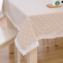 Cotton and linen tablecloth fabric small fresh Japanese table cloth simple cover rectangular coffee table cloth table cloth table round table