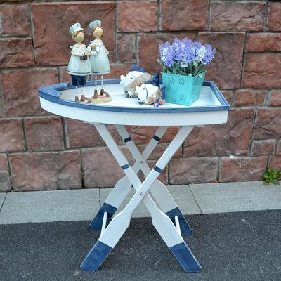 地中海风格实木创意船型折叠茶几折叠桌 工艺品批发有实体店吗