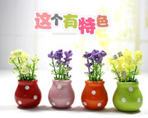 现代装饰品摆件创意客厅酒柜迷你仿真植物假花米兰盆栽摆设小礼品