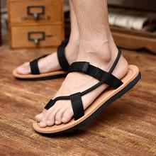 夏季两用防滑人字拖时尚 男凉鞋 沙滩鞋 厚底休闲鞋 夏天男凉拖鞋