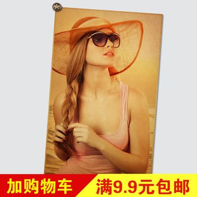 性感美女海报墙贴画美女壁纸洗手间宾馆会所浴室美女装饰画芯