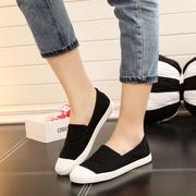 人本春季浅口老北京布鞋平底休闲鞋一脚蹬懒人单鞋女士布鞋女鞋