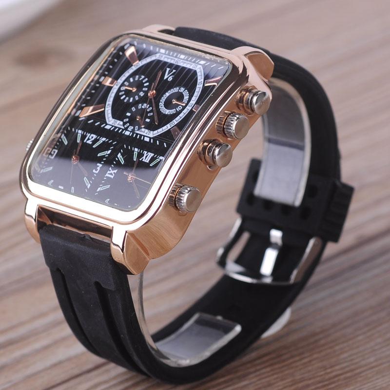 皮革石英手表