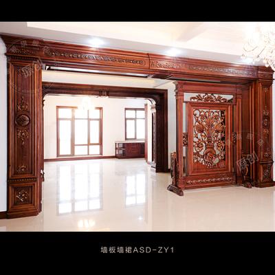 定制原木实木包窗套双单面飘窗造型垭口阳台门框线条拱形门套线条价格