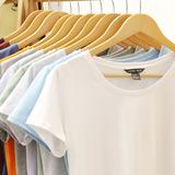 夏装纯色新款短袖T恤女士2018修身半袖T桖上衣百搭打底衫白色体恤