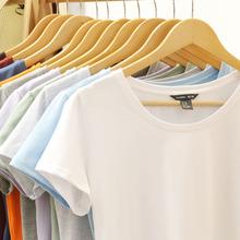 夏装纯色新款短袖T恤女士2017修身半袖T桖上衣百搭打底衫白色体恤