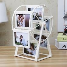 创意DIY手工定制照片风车旋转相框摆台相册结婚摆件女生毕业季
