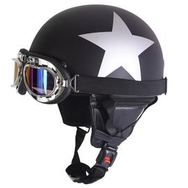 电动摩托车头盔男太子盔时尚女士安全帽半盔秋冬季情侣盔款四季图片