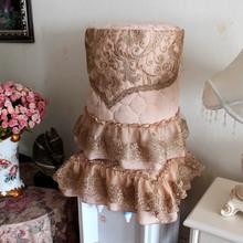 圆舞曲欧式立式饮水机罩田园防尘罩机罩子布艺水桶罩两件套