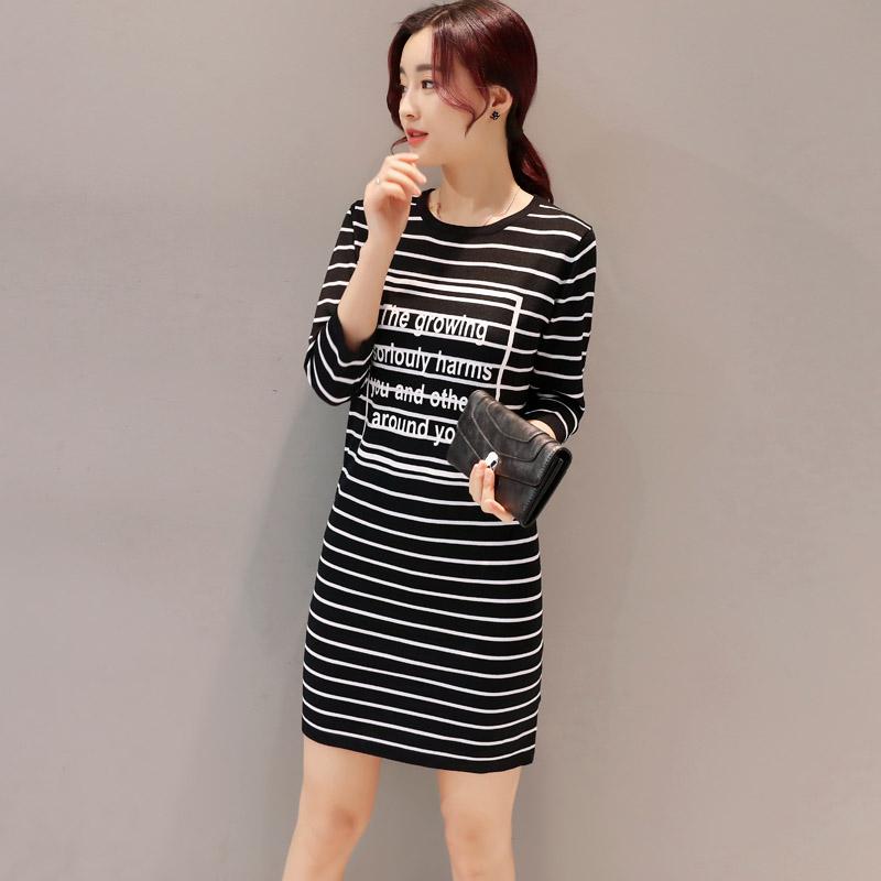 韩版连衣裙五分袖