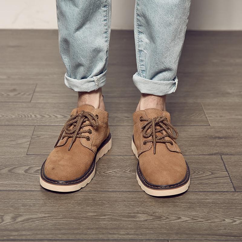 磨砂皮馬丁鞋男