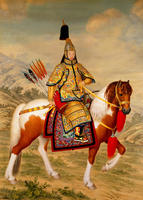 Chinese Famous Paintings High-end Home Hotel Decorative Paintings Qianlong Armored Readings Portrait of Emperor Qing Shiraning