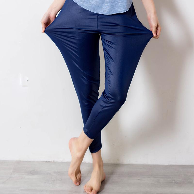 春季仿皮弹力裤