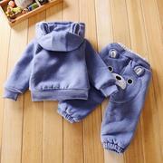 男童装春秋冬套装婴儿小童衣服宝宝冬装0-1-2岁半加厚棉衣外套潮