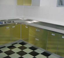 不锈钢台面 橱柜台面 304拉丝不锈钢厨房橱柜台面 定做更换台面