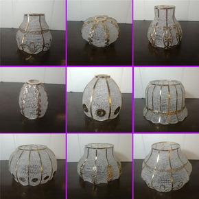 灯罩外壳E27螺口吊灯灯罩创意餐吊灯台灯DIY铁艺现代简约灯具配件