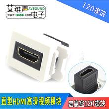 精艺地插信息盒120功能件弱电信息插座直型HDMI对接高清视频模块