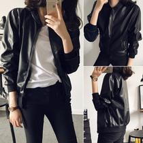 2018春季女装韩版新款休闲气质学生立领夹克宽松开衫机车皮衣外套