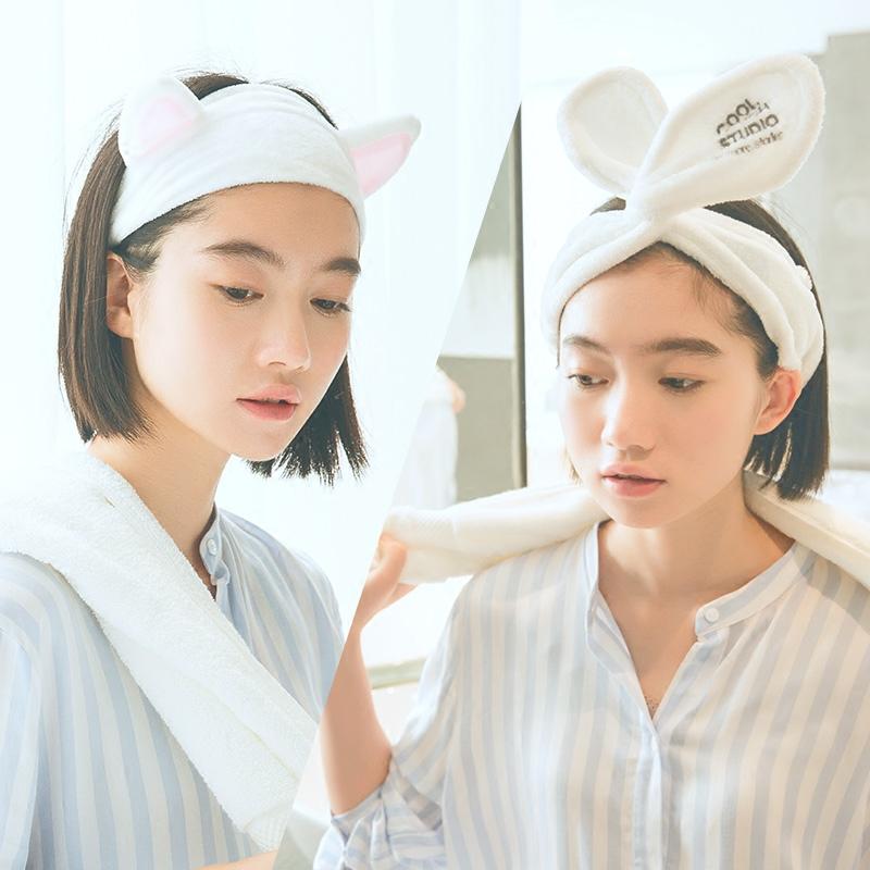 三利洗脸发带韩国可爱网红洗漱束发带敷面膜发箍头饰发套女甜美