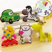 创意可爱动物冰箱贴磁贴装饰留言贴 儿童早教黑板吸铁石软胶磁贴