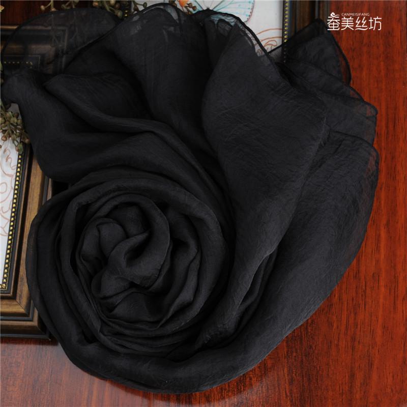 高档纯色长围巾
