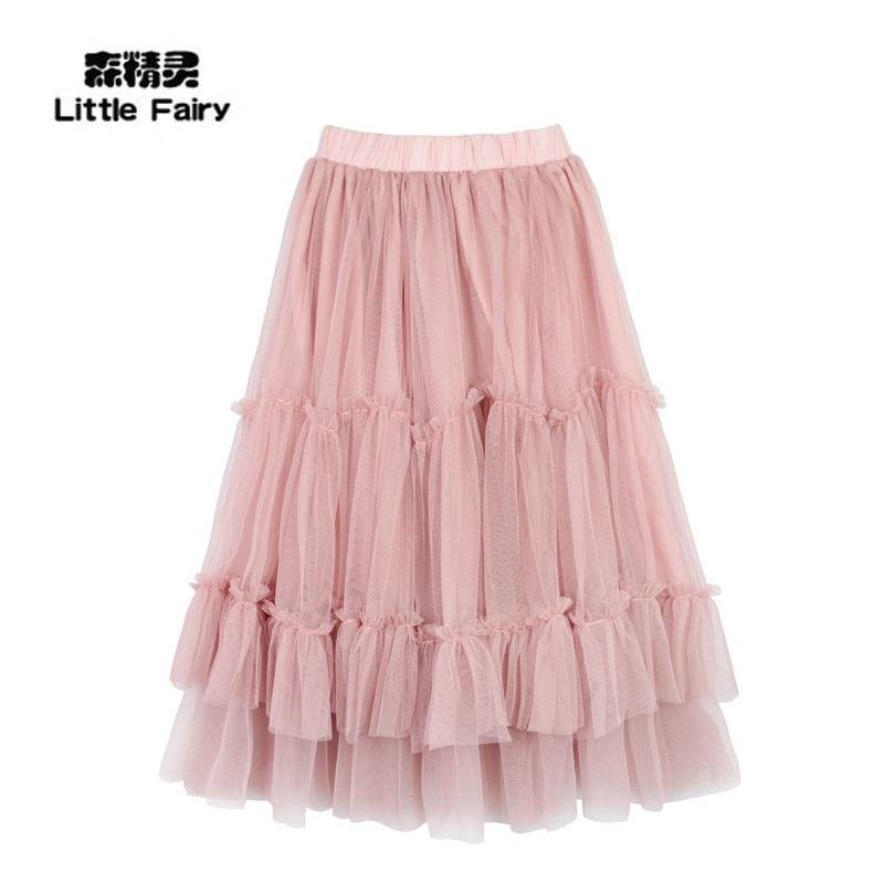 童半裙女童夏季长半裙中大童小童公主蓬蓬裙舞蹈裙仙女网纱半裙