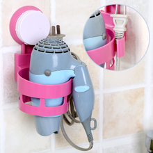 Drilling-free strong suction cup Blower Rack in toilet bathroom