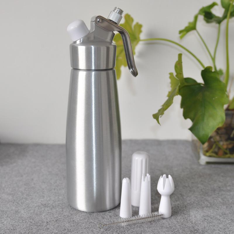千团精工 不锈钢奶油发泡器 奶油枪  奶泡器 奶油机0.5L