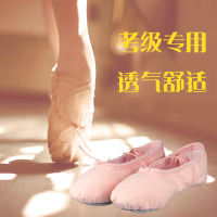Children's dance shoes women's soft bottom shoes adult ballet shoes meat pink national dance body shoes cat claw shoes