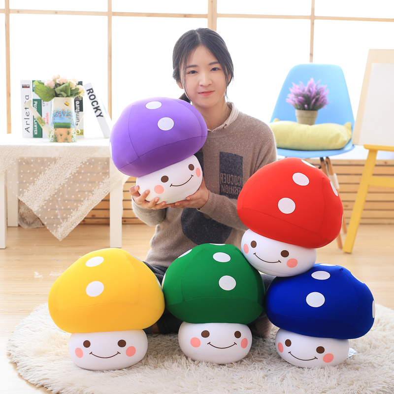蘑菇毛绒玩具儿童
