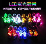 Colorful USB charging LED light lace flat flash fluorescent lace flashing luminous lace fashion creative gift