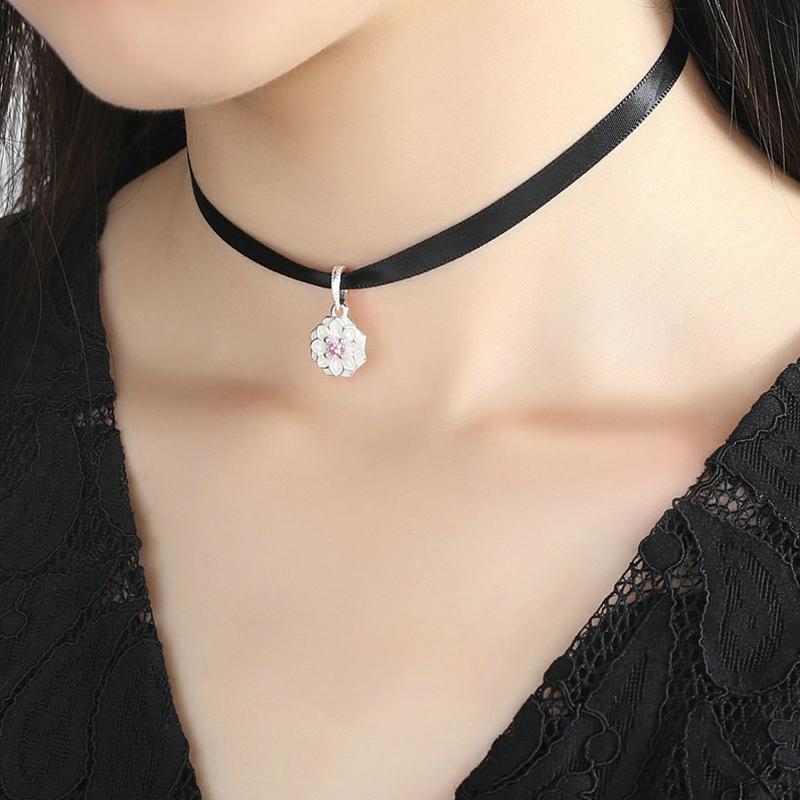 新款925银项链女锁骨链短款choker简约银饰黑色颈丝带绑脖子项圈3元优惠券