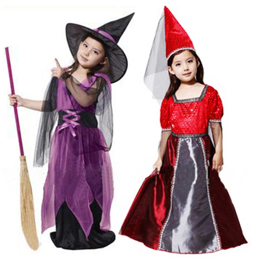 cosplay衣服儿童小女巫表演服演出服装