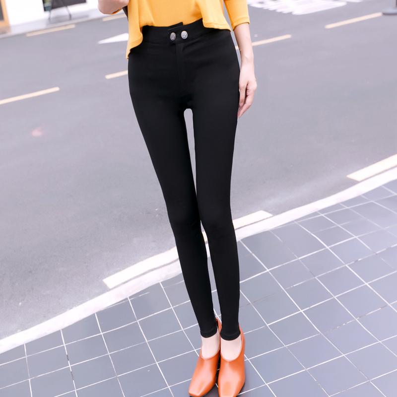 韩国厚铅笔裤