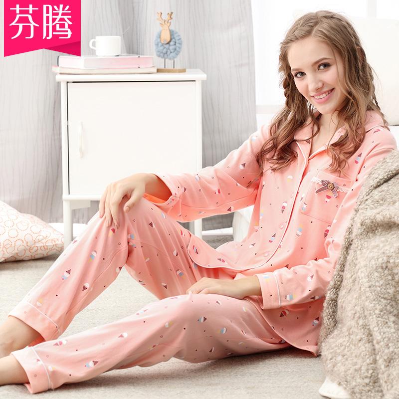 冬季针织棉棉睡衣