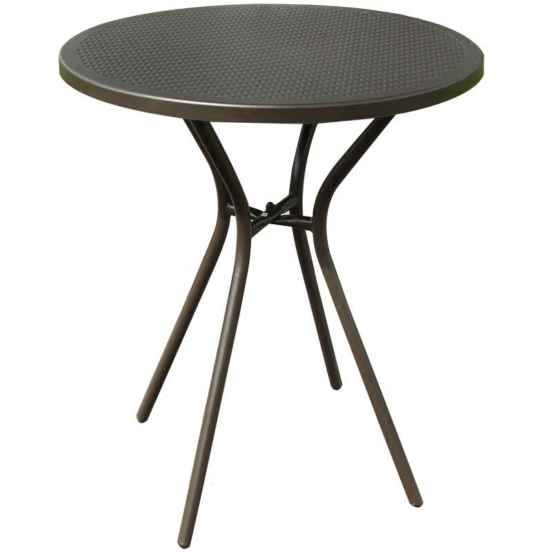 仿藤休闲小茶几 60小圆台 咖啡店奶茶店小桌子铁艺塑胶小圆桌