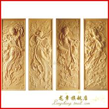 上海龙章 中式砂岩浮雕壁饰 立体装饰壁画 酒店会所沙岩画-飞天图
