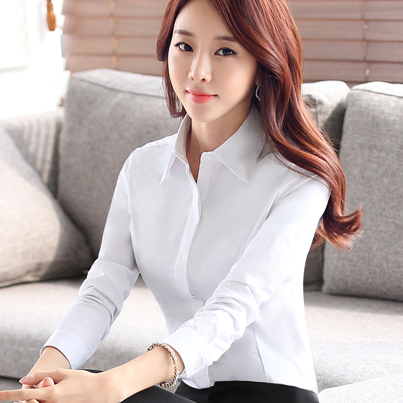 Spring models work wear overalls white shirt shirt suits business office Slim women