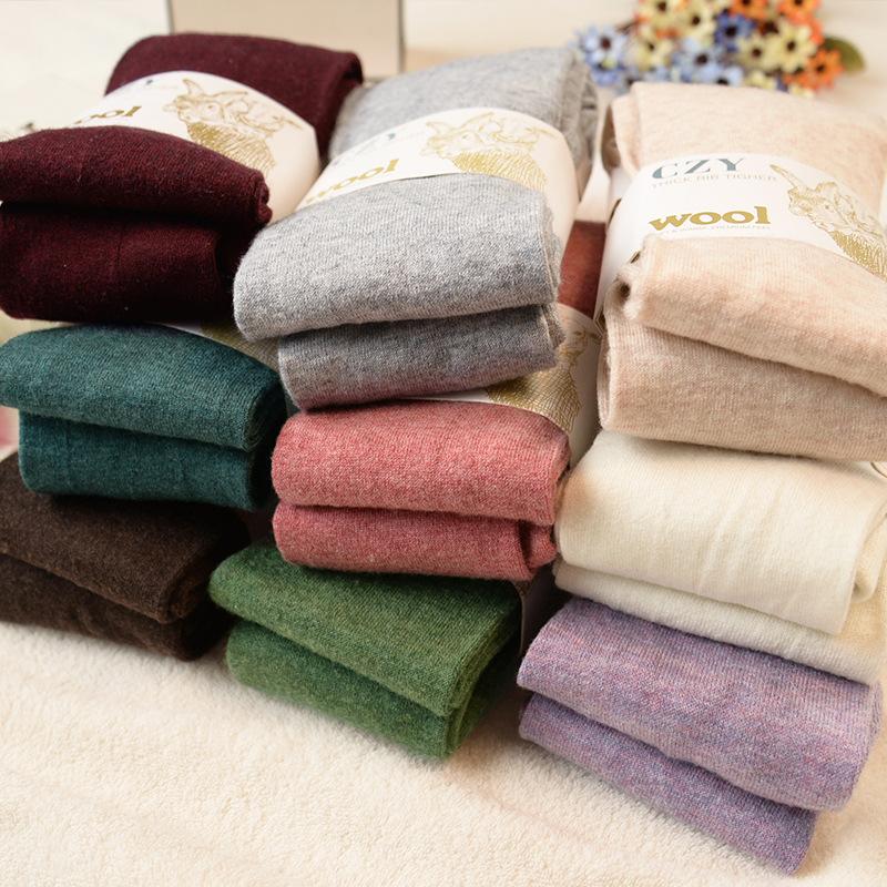 冬季羊毛连袜