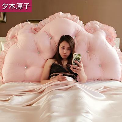 床头靠垫芯大靠背双人三角榻榻米板软包床上公主长靠枕腰枕抱枕