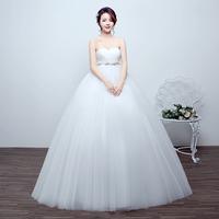 孕妇主婚纱高腰2018新款冬季大码显瘦齐地抹胸婚纱礼服新娘结婚女