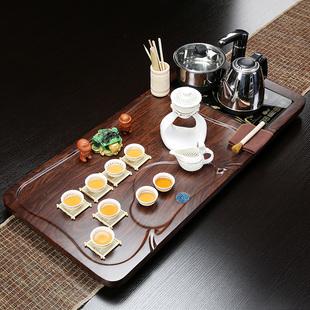 丰众整套家用实木茶盘茶台茶海紫砂陶瓷功夫茶具套装四合一电磁炉