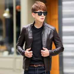 皮衣男士皮夾克2016秋冬季加絨新款短款韓版修身青年pu男裝外套潮