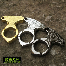 Outdoor outdoor equipment for men and women, self-defense articles, wolf-proof weapons, finger-wrenching Xiangyun single finger button ring window breaker