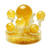 Ci Feng Ge natural citrine seven star array ornaments Feng Shui lucky fortune living room office gift ornaments