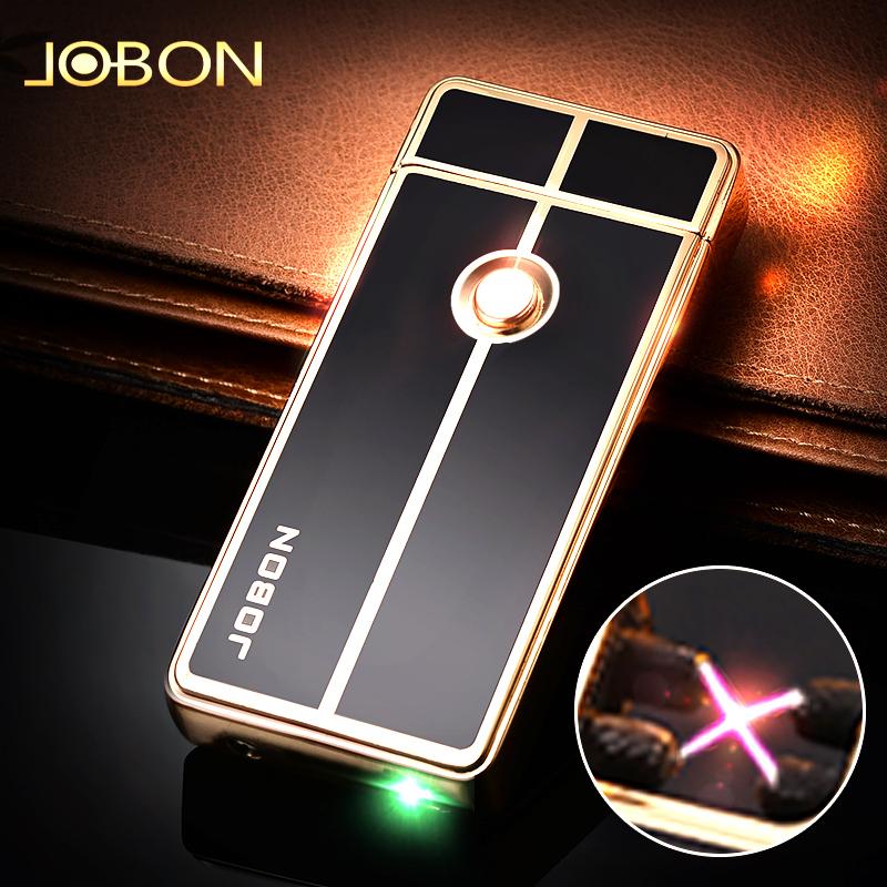 jobon中邦usb双电弧防风打火机充电创意点烟器个性打火机定制刻字