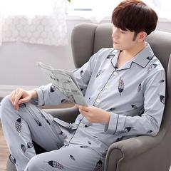 男士长袖纯棉睡衣