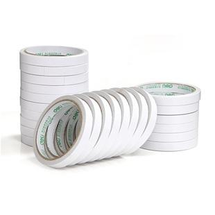 办公用品文具 双面胶纸 10Y双面胶 1.2cm 得力30401棉纸双面胶带